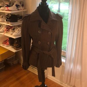 Zara Brown Pea Coat